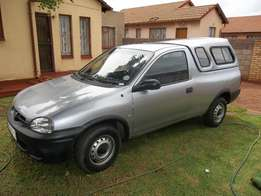 opel corsa bakkie,with a canopy, 2003 model, 1,4i , silver grey