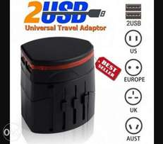 Universal 6 in 1 Travel Adapter (incl. 2 USB Ports)