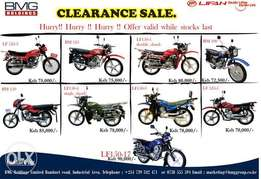 Clearanxe sale of Lifan Motorbikes