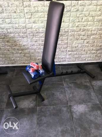 adjustable bench heavy duty with dumbels