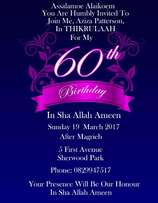 Invitation design and photography services