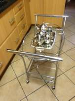 Tee Trolley with silver tee set