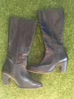 Black Leather Boots (size 6)
