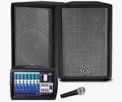 Wharfedale Pro PMX700 System Powered Mixer 2x 12 inch PA Speakers and