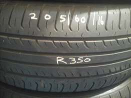 205/60/16 Second hand tyres