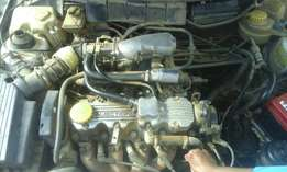 Nissan Tiida engine and gearbox