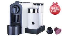 Nespresso Compatible Capsule Coffee Machine with Milk Frother