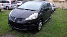 Honda Fit Black with Chrome rims