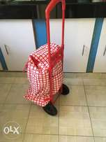 Shopping bag on wheels (with adjustable handle)