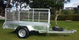Cattle Trailer 8x5 Single Axle- 800mm Cage for sale