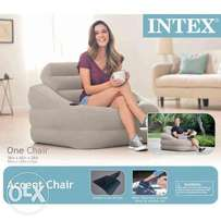 Intex Inflatable Indoor Or Outdoor Accent Air Chair With Cup Holder