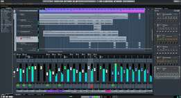 Recording studio Kits and softwares like Cubase, Fl studio and Plugin