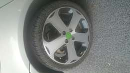 17 inch mags with new tyres