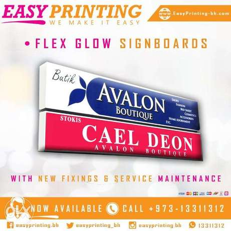 Signboard | Flex Changing & Fixing Service.