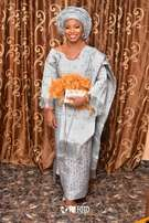 Engagement Aso-oke for bride and groom