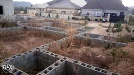 Fenced Plot with Foundation for Sale