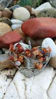 Carnelian Heart Tree of Life Pendant