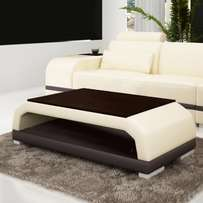 Poise Full Leather Center Table (Reference: fx135mb)