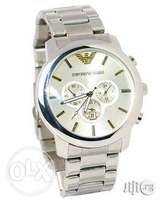 Emporio Armani Men's Silver Wristwatch