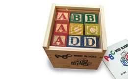 27-Piece Educational Wooden ABC Blocks RETAILS: R150 OUR PRICE: R80
