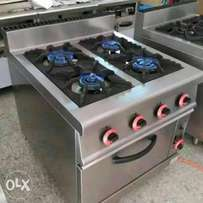 Gas cooker with oven 4buner