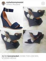 Lovely Jeans Wedge Sandals