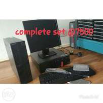 Lenovo cpu core2duo/1gb/80gb dvd wrt with 17 inches tft monitor