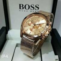 HUGO BOSS rose gold wrist watch