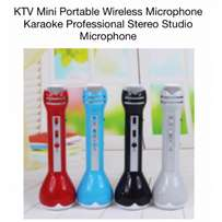 karaoke wireless bluetooth speaker with mic and built in recorder