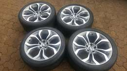 "Genuine BMW 20"" rims and tyres set for X5,X6"