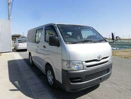 Hiace with 1.1m deposit
