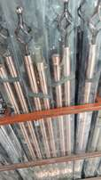 Curtain Rods 1300 double with 3mm and accessories 1800