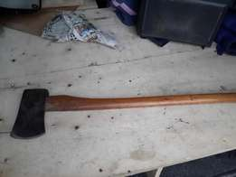 Very Nice old wooden axe in excellent condition just been professional