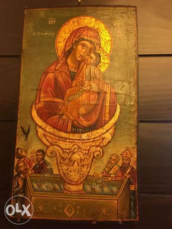 rare museum 19th century greeck icon source of life