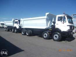 Mercedes Benz 6 and 10 cube Tipper trucks for sale !