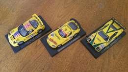 Collection of three Fly slot cars