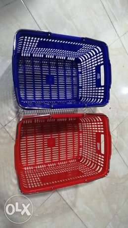 Plastic basket & cash counter sell