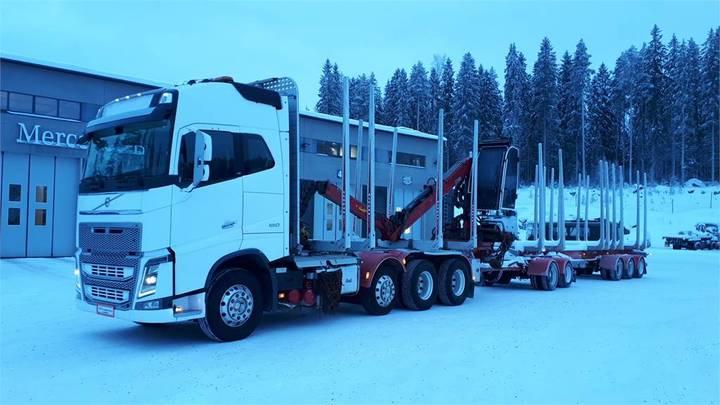Volvo Fh16 660hv 8x4 + Hiab 1085 Puutavaranosturi + Jyki - 2014