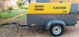 52015 Atlas Copco XAS137 Mobile Air Compressor - 520hrs