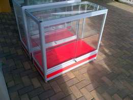 Shop counters for sale, alumunium and safety glass