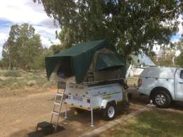 Trailer plus roof tent
