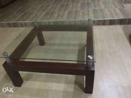 coffee table in dark brown