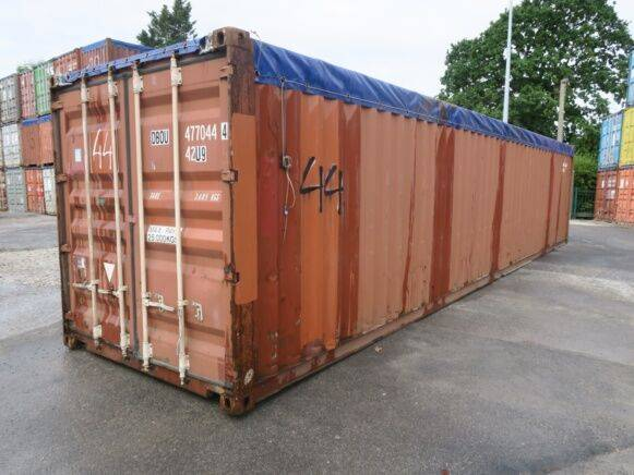 Sale tarpaulin covered container high cube open top 40 feet