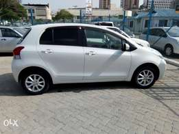 Pearl white Toyota vitz fully loaded kcp