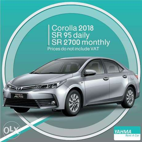 Toyota Corolla 2018 for rent