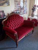 6 Seater Victorian Lounge Suite R6500-00 as new