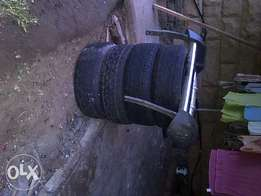 mazda nudge bar and used tyres