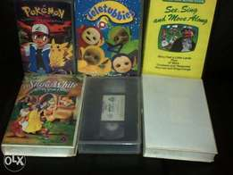 kids video cassettes in original stunning condition for sale like new.