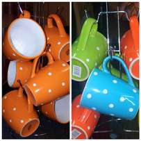 Colourful mugs/cups on available in assorted colours. 6pcs at n1200/