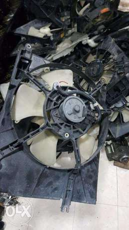 Car fan motors with & without cover